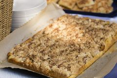 Streusel cake Stock Photography