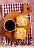 Streusel pumpkin sweet rolls Stock Photos