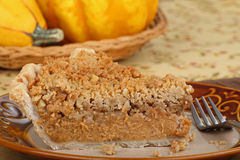 Streusel Pumpking Pie Slice Stock Photo