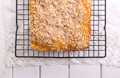 Streusel topping cake Stock Images