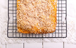 Streusel topping cake Stock Photo