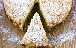 Streuselkuchen: German Crumb Cake. (selective focus royalty free stock photo