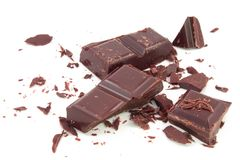 Strewed chocolate Stock Image