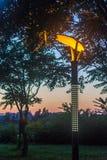 Strfeetlight under solnedgången Royaltyfri Fotografi