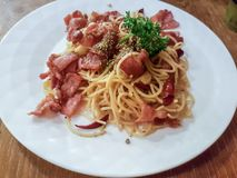 Stri smażył spaghetti Fotografia Stock