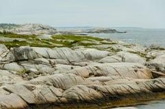 Striation glaciaire de granit photo libre de droits
