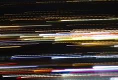 Striature variopinte di indicatore luminoso Fotografie Stock
