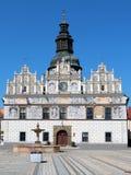 Stribro-Renaissance-Rathaus Stockfotografie