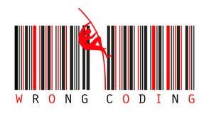 Strichkode-Konzept lizenzfreie abbildung