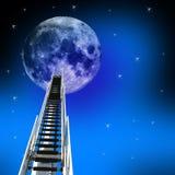 Strichleiter bis zum Mond Stockbilder