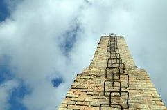 Strichleiter im Himmel Stockbilder