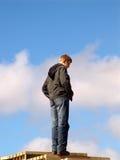 Strichleiter im Himmel lizenzfreie stockfotografie