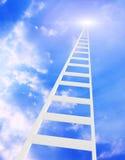 Strichleiter im Himmel Stockfotografie