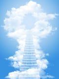Strichleiter zum Himmel lizenzfreies stockfoto