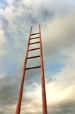Strichleiter zum Himmel Stockfoto