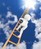 Strichleiter zum Himmel 3d Stockfotografie