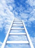 Strichleiter zum Himmel Lizenzfreie Stockbilder