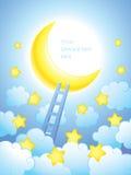 Strichleiter zum Himmel Stockbilder