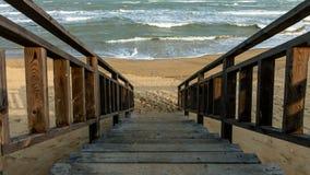 Strichleiter zum Meer Lizenzfreies Stockbild