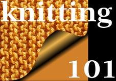 101 STRICKEN - gestrickter Strumpfbandstichprobenehmer für Anfänger Lizenzfreie Stockbilder
