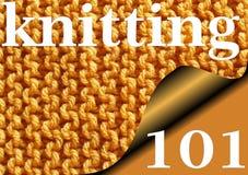 101 STRICKEN - gestrickter Strumpfbandstichprobenehmer für Anfänger Lizenzfreie Stockfotografie
