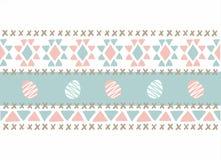 Strickende blaue rosa Ostereier der Art Lizenzfreies Stockbild