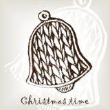 Strickende Weihnachtsglocke Vektor Abbildung