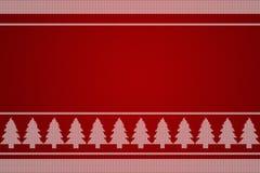 Strickender Hintergrund des Weihnachtsbaums Stockfotografie