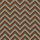 Strickendes Muster des nahtlosen Zickzacks Stockfoto