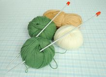 Strickgarn Stockbild