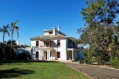 Strickland hus, Vaucluse, Sydney, Australien royaltyfri bild
