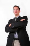 Strict boss. Elegant business men look strict Stock Images