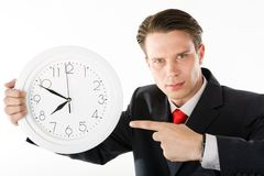 Strict boss Royalty Free Stock Photo