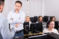 Strict boss and clerk Stock Photography