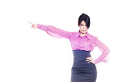 Strict business lady Stock Photography