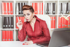 Strict business woman Stock Images