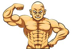 Coach bodybuilding and fitness Royalty Free Stock Photography