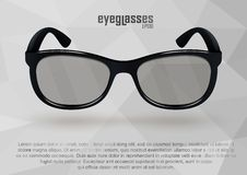 Strict eyeglasses in black and white. Stock Photography
