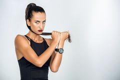 Strict fitness model Stock Photography