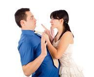 Strict girlfriend Royalty Free Stock Photo