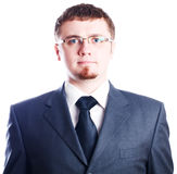 Strict serious business man Royalty Free Stock Images