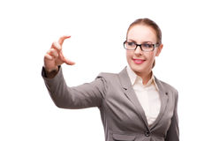 The strict serious businesswoman isolated on white Stock Images