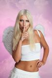 Strict sexy angel. With blond hair Stock Image