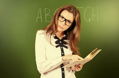 Strict tutor Royalty Free Stock Image