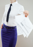 Strict unrecognizable businesswoman Royalty Free Stock Photography