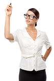 Strict woman in large glasses Stock Photography
