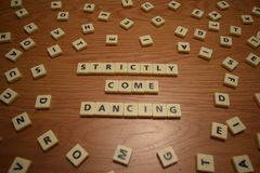 Strictly come dancing stock images
