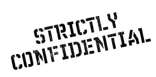 Strictly Confidential rubber stamp. Grunge design with dust scratches. Effects can be easily removed for a clean, crisp look. Color is easily changed Stock Photos