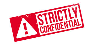 Strictly Confidential rubber stamp Royalty Free Stock Photo