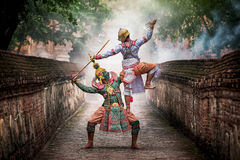 STRICTLY KHON DANCING. PERFORMERS of one of Thailand's most highly regarded dances are keeping the tradition alive, despite the recent decline in popularity of Royalty Free Stock Photo